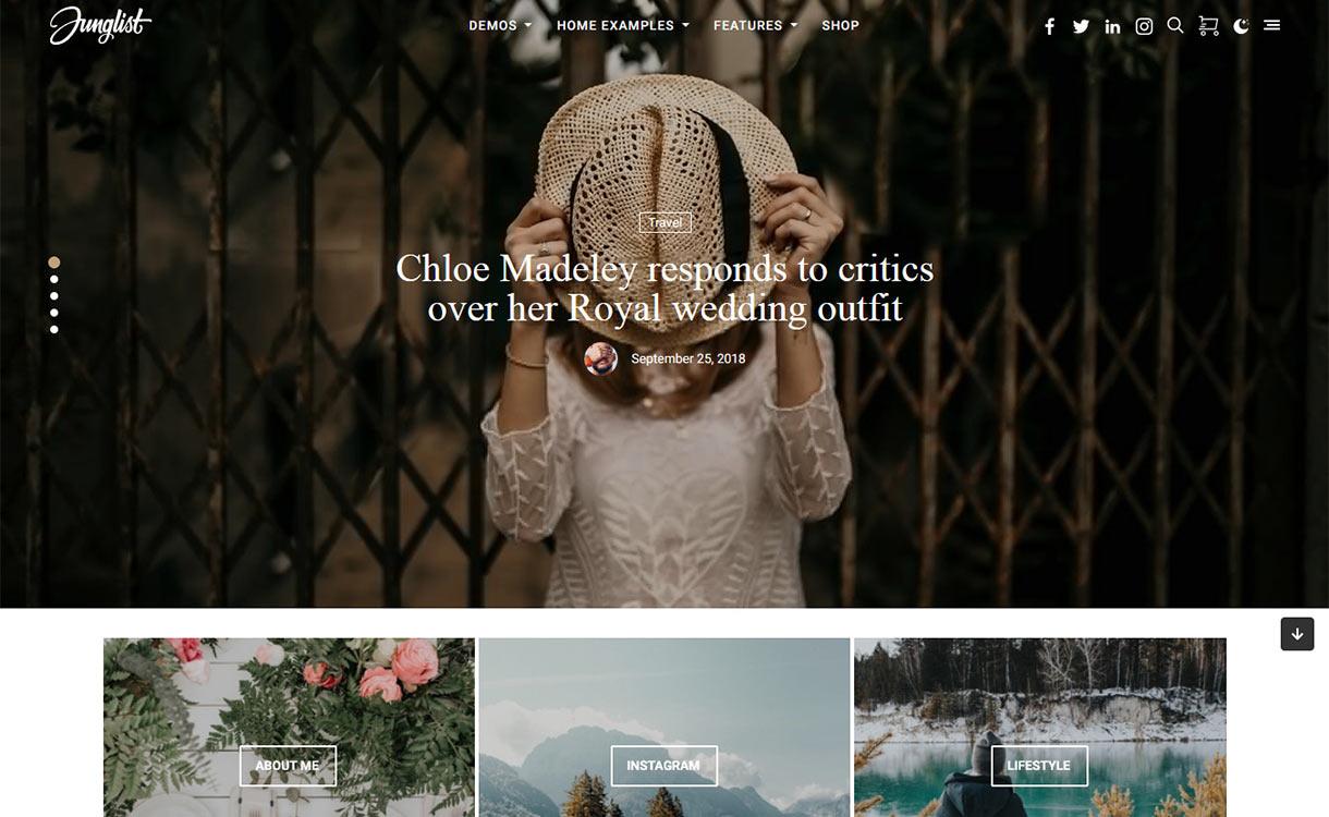 Harmuny Blog WordPress Theme