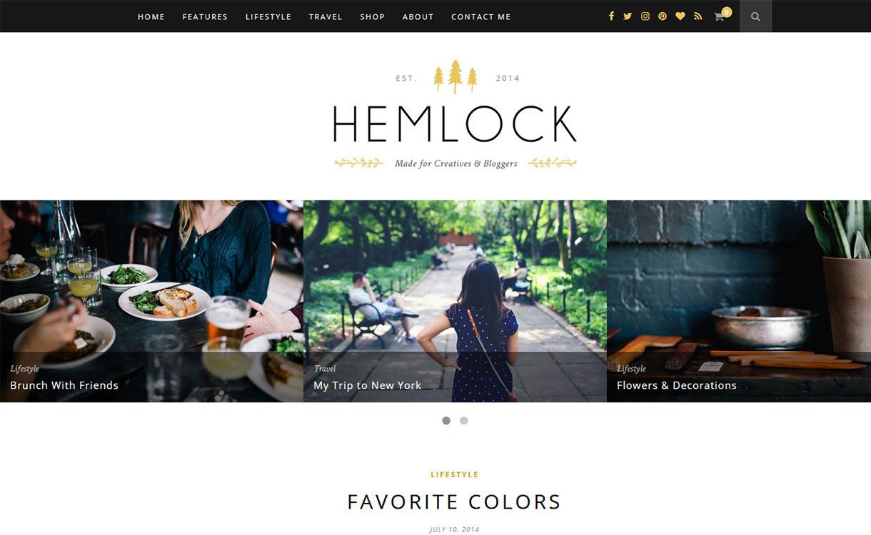 Hemlock Blog WordPress Theme