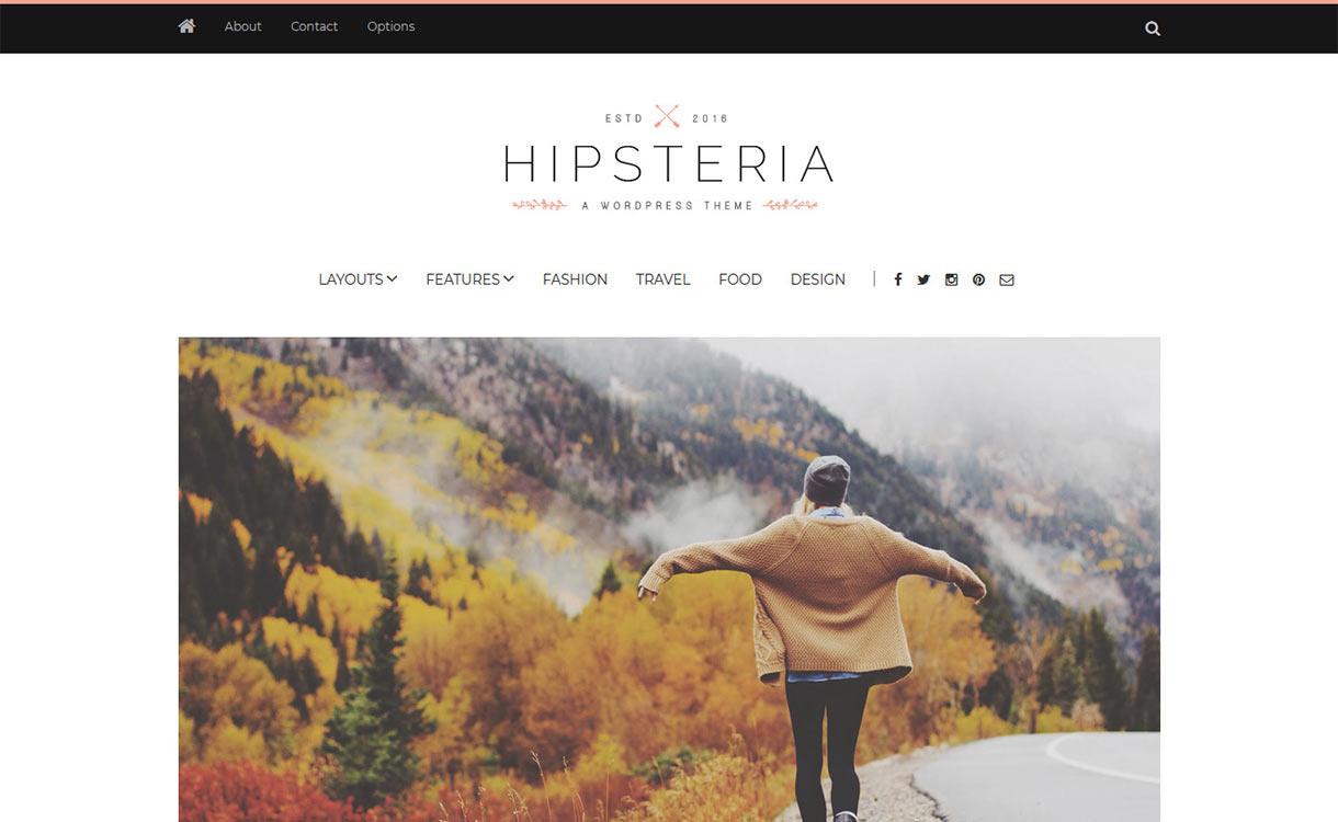 Hipsteria Blog WordPress Theme