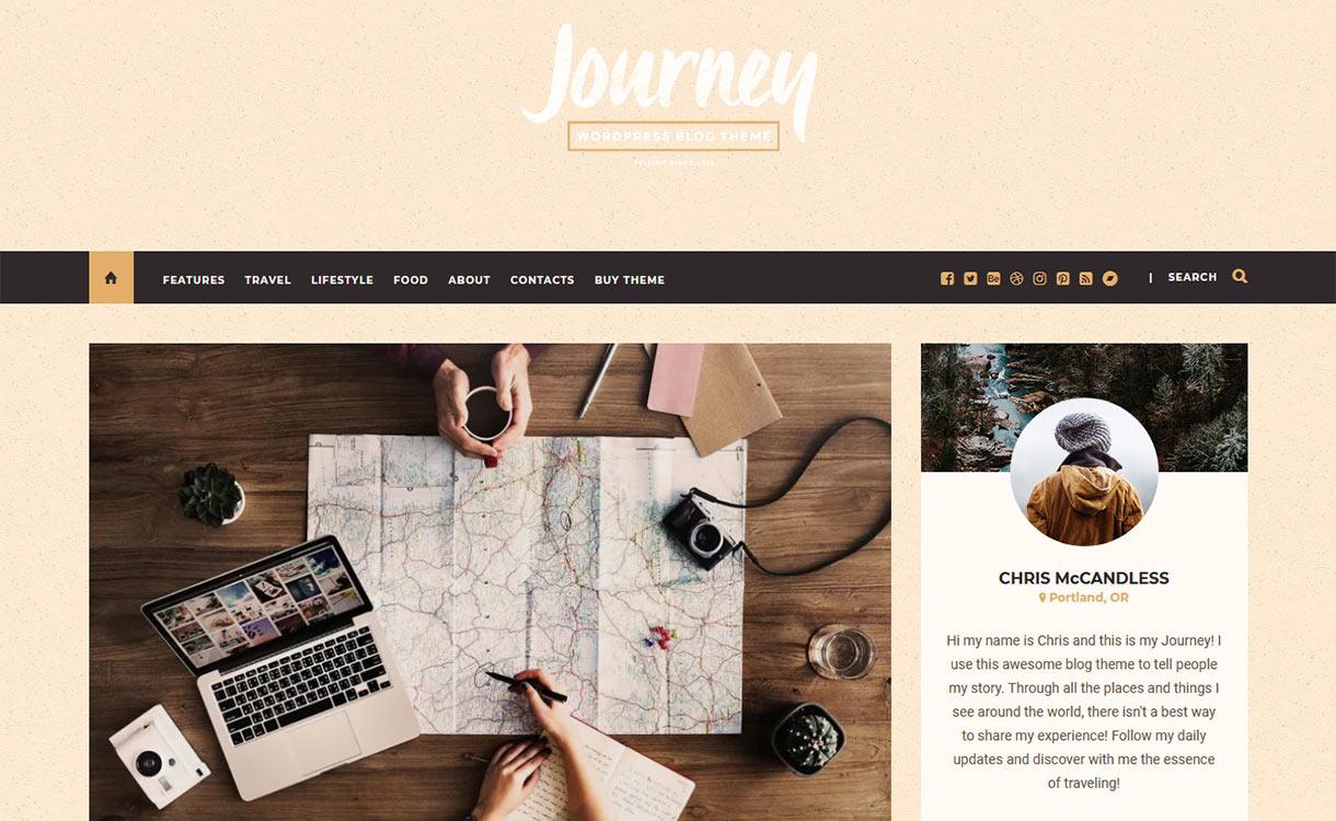 Journey Blog WordPress Theme