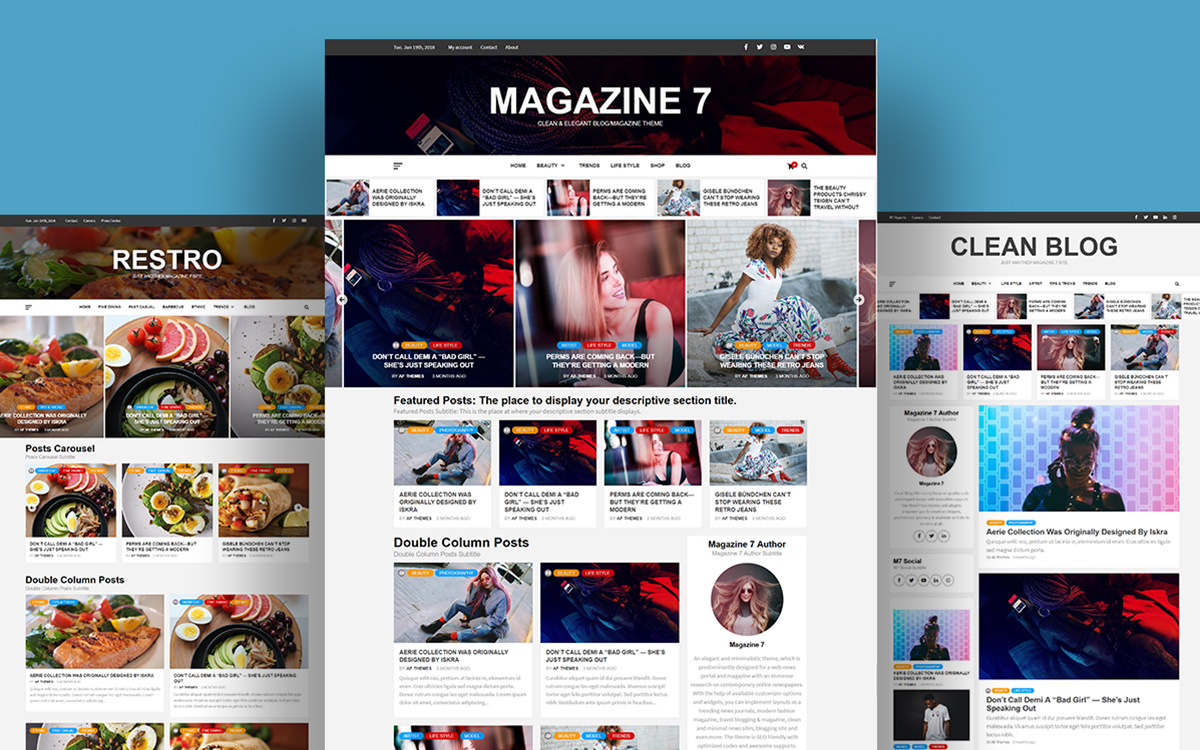 Magazine 7 - 25+ Best Free Responsive Magazine WordPress Themes 2020