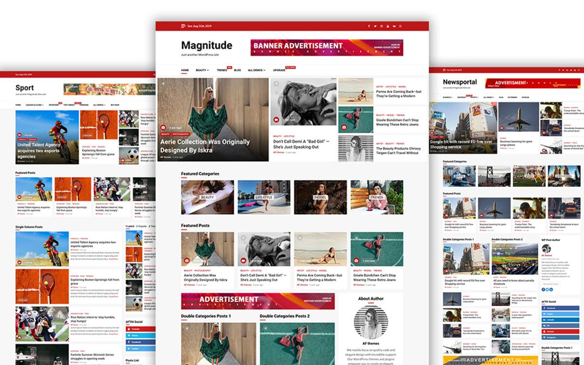 Magnitude - 25+ Best Free Responsive Magazine WordPress Themes 2020