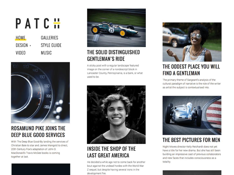 Patch Lite - 25+ Best Free Responsive Magazine WordPress Themes 2020
