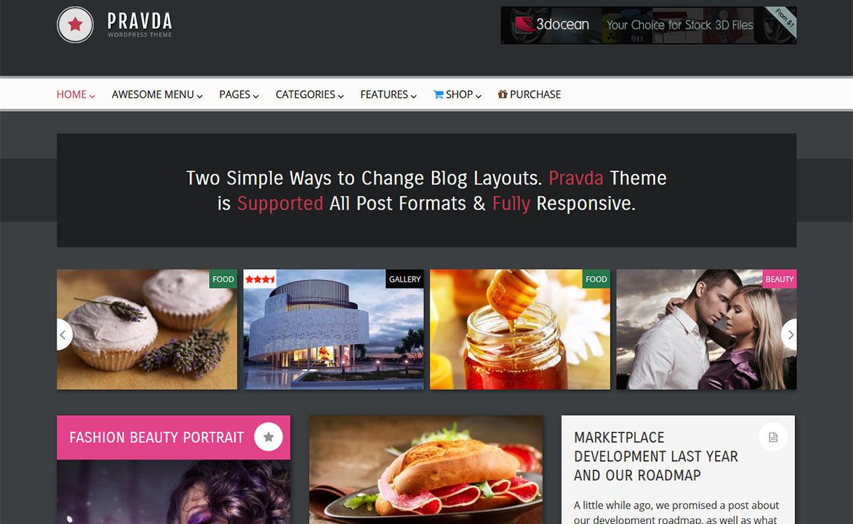 Pravda Blog WordPress Theme