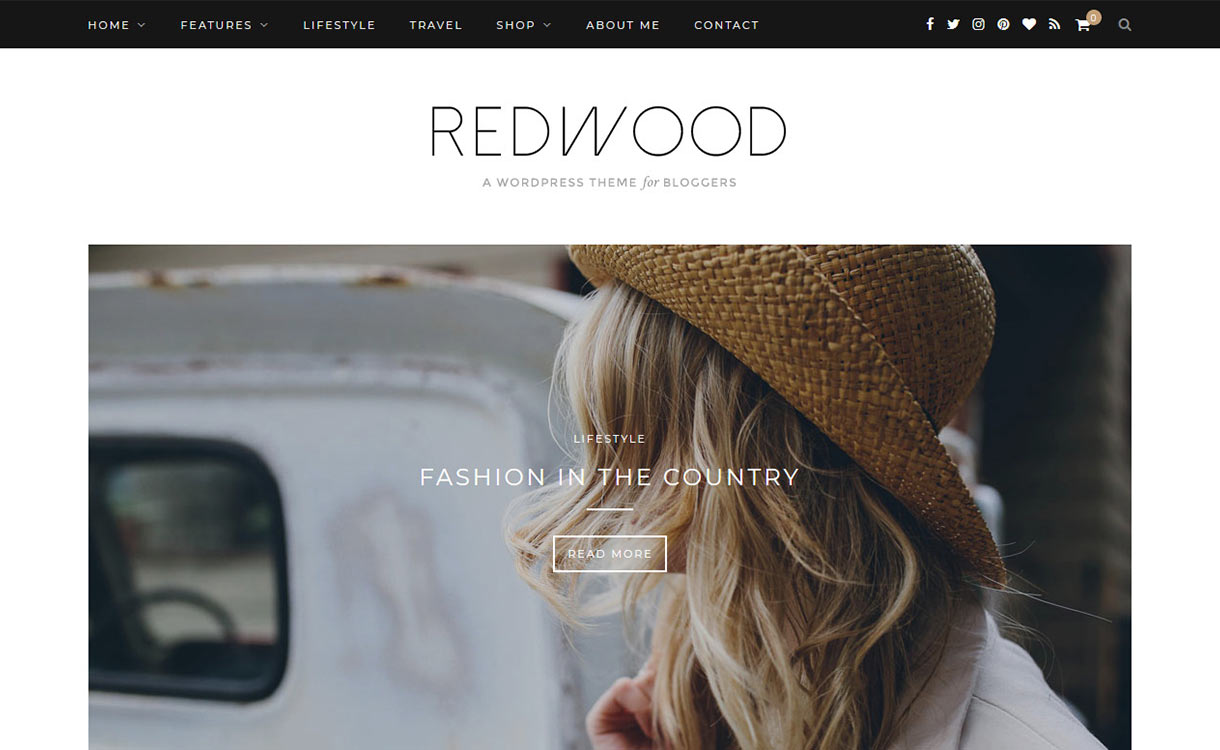 Redwood Blog WordPress Theme