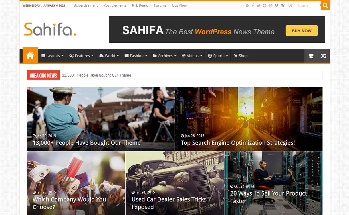 Sahifa Blog WordPress Theme