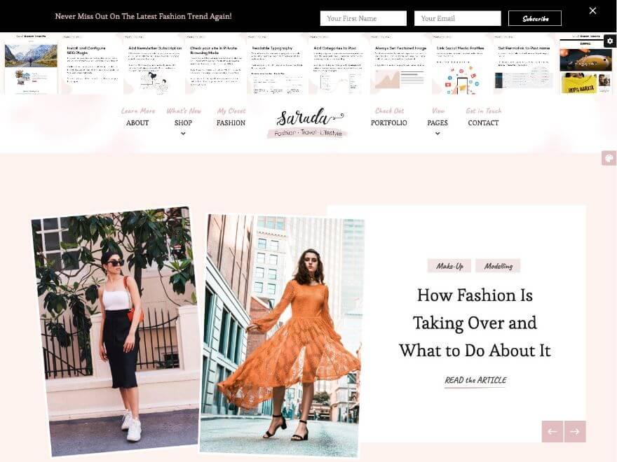 Sarada - Premium WordPress Blog Theme