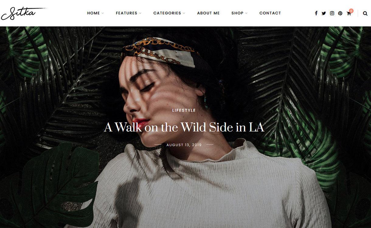 Sitka Blog WordPress Theme
