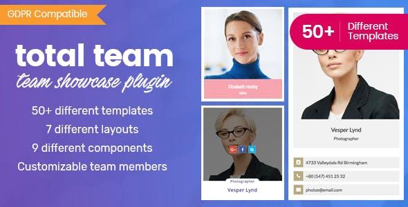 Total Team Team Showcase Plugin - 5+ Best WordPress Team Showcase Plugins