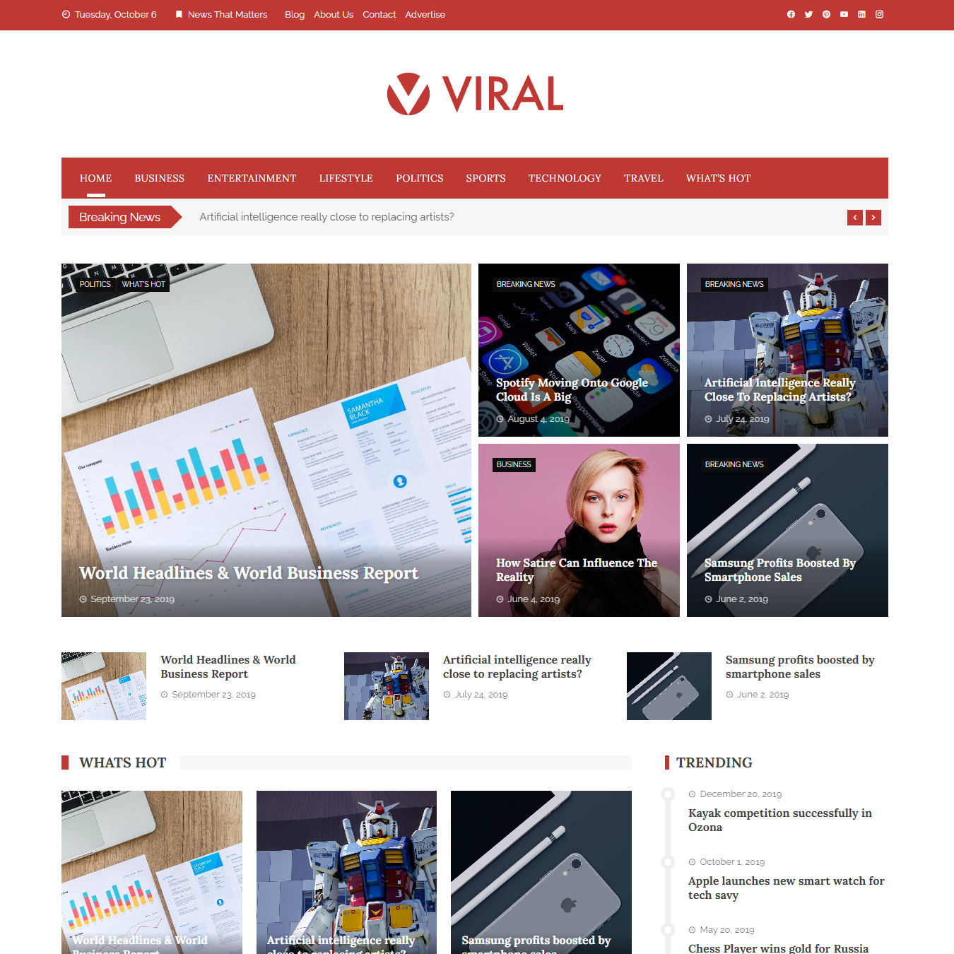 Viral WordPress Theme