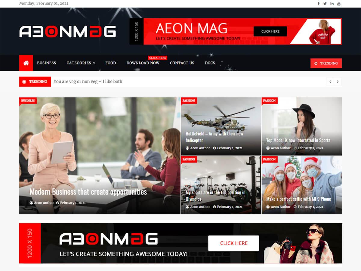AeonMag WordPress Theme
