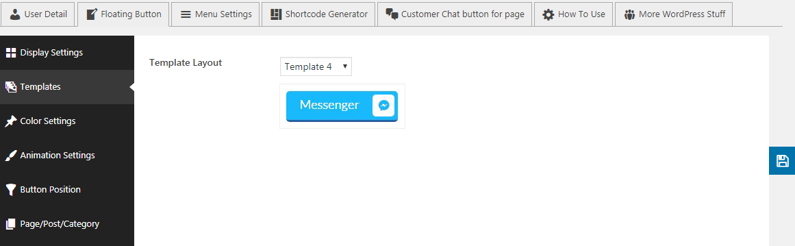 floating templates - How to Add Messenger Button on WordPress Website?