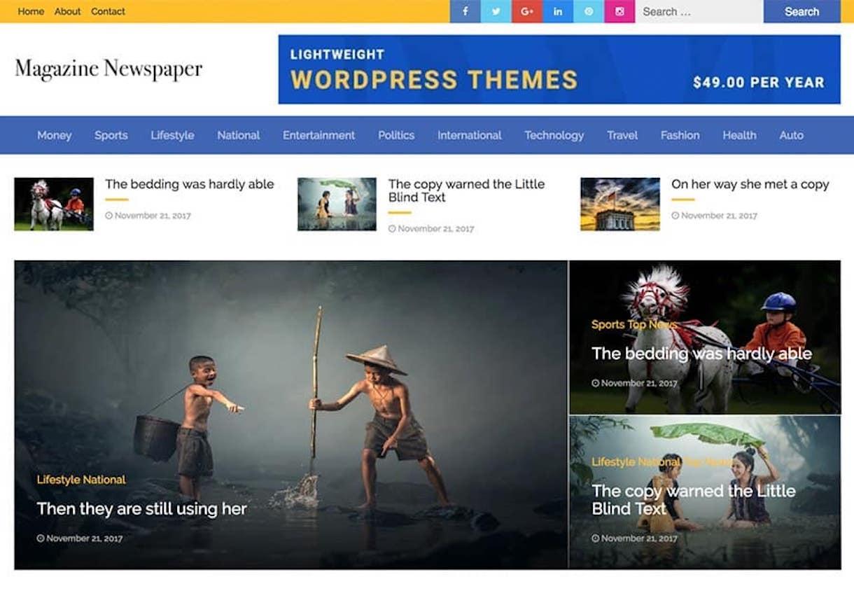 maga - 25+ Best Free Responsive Magazine WordPress Themes 2020
