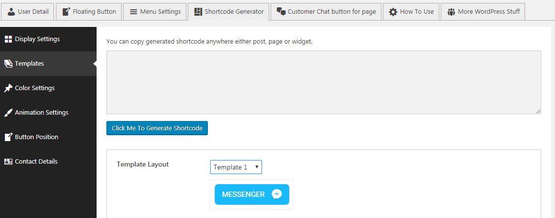shortcode generator - How to Add Messenger Button on WordPress Website?