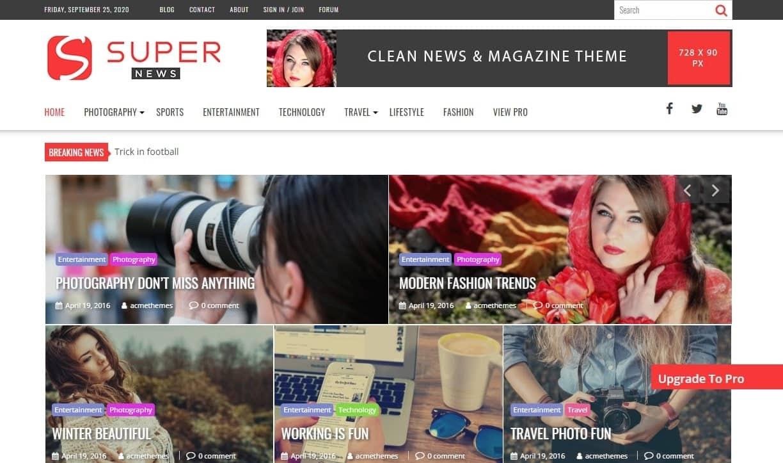 supernews free wordpress theme