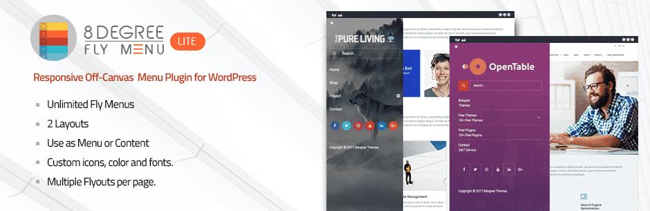 8Degree Fly Menu Lite – Free WordPress Off-Canvas Menu Plugin