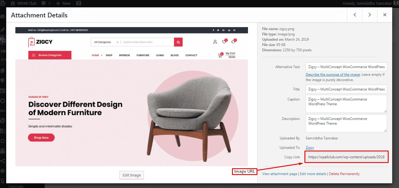 Copy Image URL