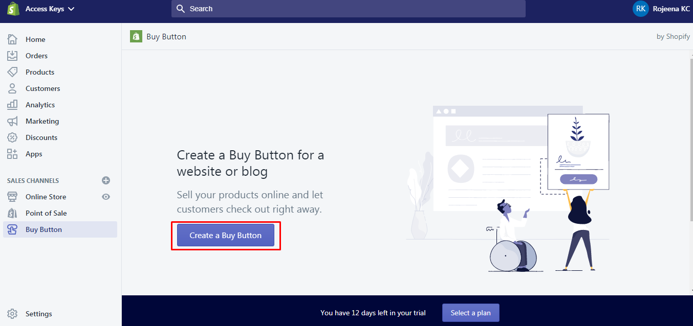 create buy button - How to set up Shopify with WordPress? (Step by step tutorial)