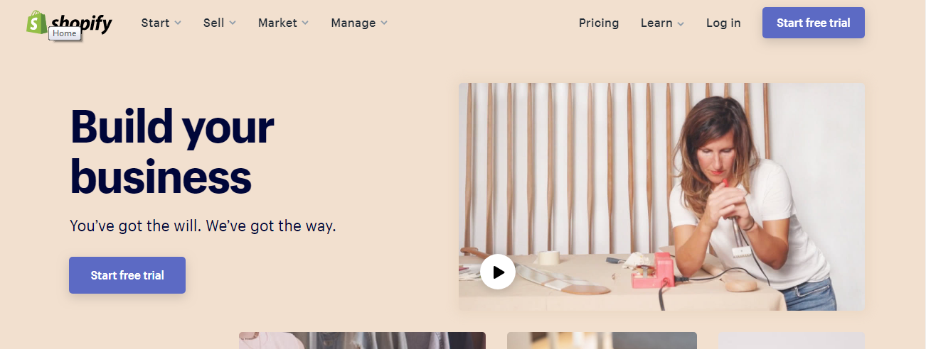 start free trial - How to set up Shopify with WordPress? (Step by step tutorial)
