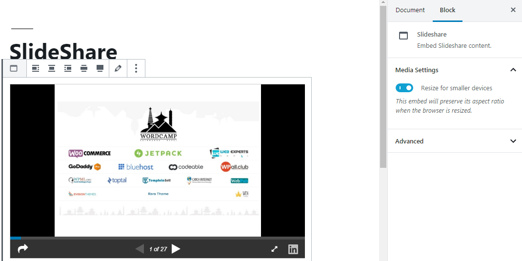 Embed SlideShare
