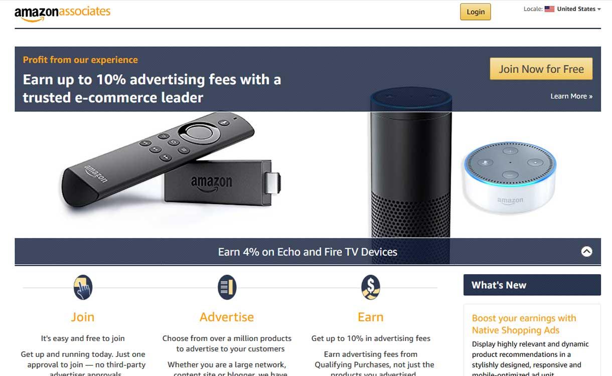 amazon associates - 8 Best Google AdSense Alternatives 2020