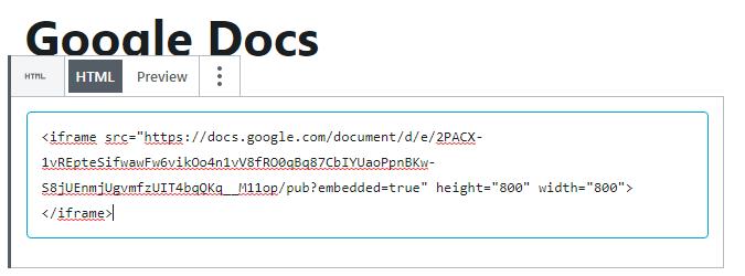 iFrame Embed HTML Code