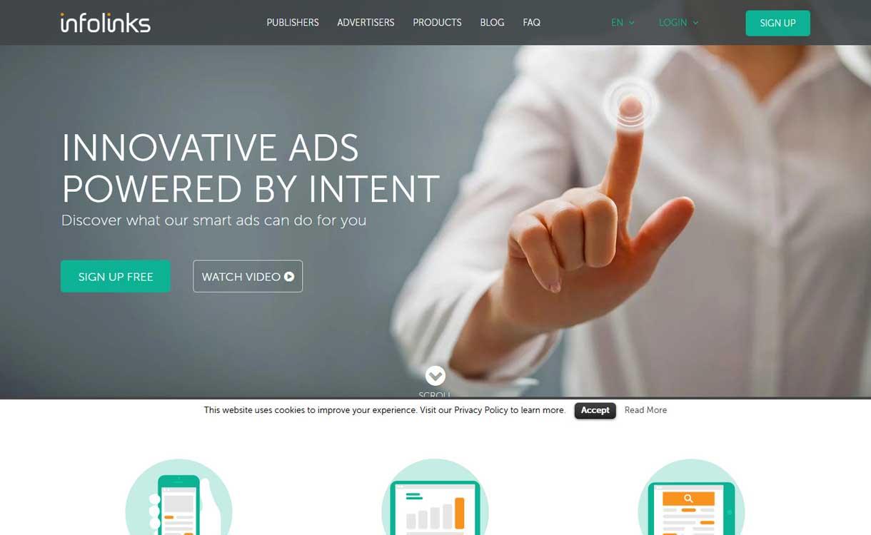 infolinks - 8 Best Google AdSense Alternatives 2020