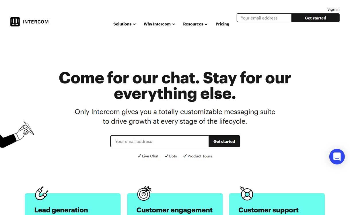 Intercom - Best Live ChatBox Software