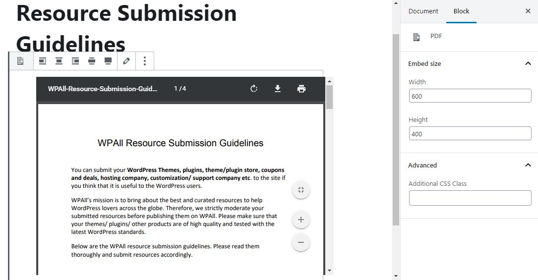 Embed PDF File
