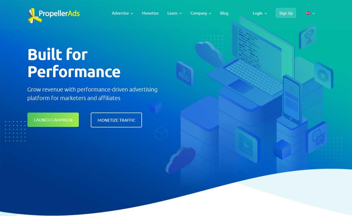 propellerads - 8 Best Google AdSense Alternatives 2020