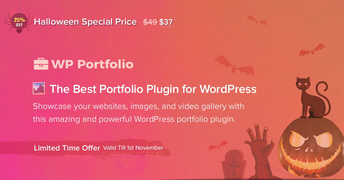 WP Portfolio - 25+ Best WordPress Deals and Discounts for Halloween 2019 (Upto 49% OFF)