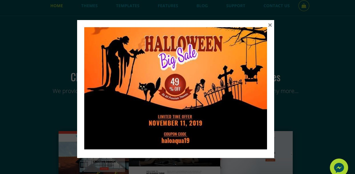 aquariusthemes halloween offer - 25+ Best WordPress Deals and Discounts for Halloween 2019 (Upto 49% OFF)