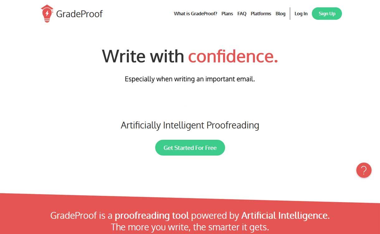 GradeProof - Best Online Grammar Tool