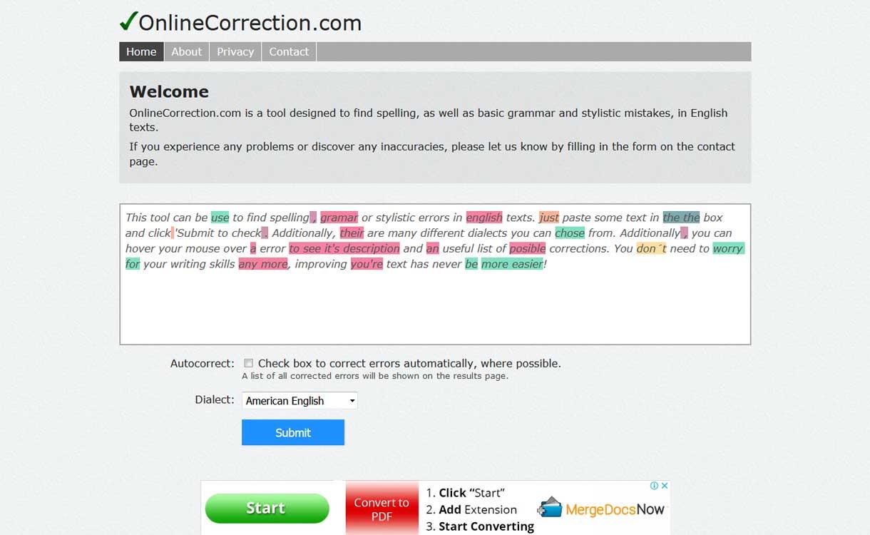 onlinecorrection best online grammar checker tool - 7  Best Online Grammar Checker Tools for WordPress