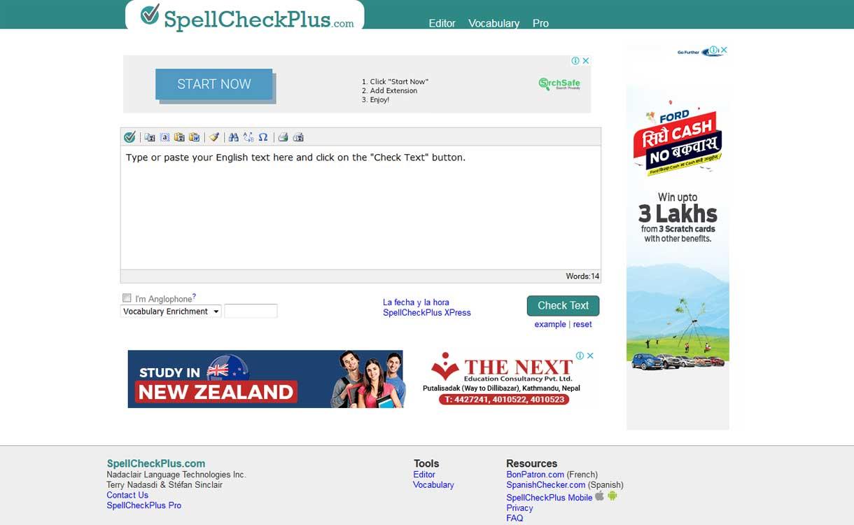SpellCheckPlus.com- Best Online Grammar Tool