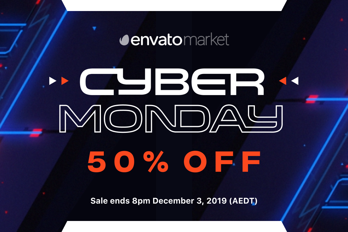 Envato Market – Cyber Monday Sale 2019