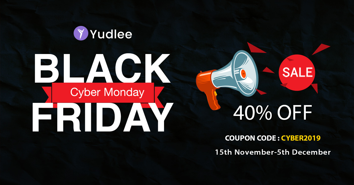 Yudlee Themes Black Friday and Cyber Monday Deals - 60+ Best WordPress Black Friday & Cyber Monday Deals 2019 - Upto 75% OFF