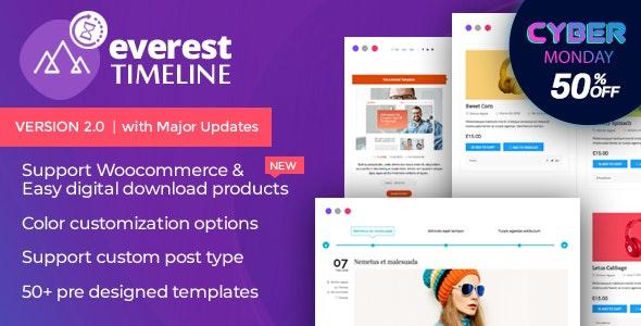 everest timeline black friday sale - 60+ Best WordPress Black Friday & Cyber Monday Deals 2019 - Upto 75% OFF
