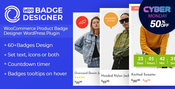 woo badge designer black friday - 60+ Best WordPress Black Friday & Cyber Monday Deals 2019 - Upto 75% OFF