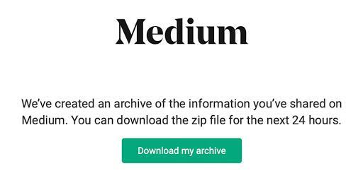 Download Medium Archive