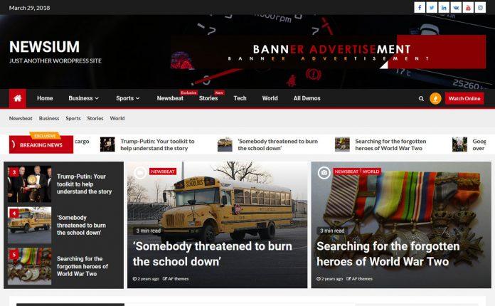 Newsium - WordPress Magazine Theme