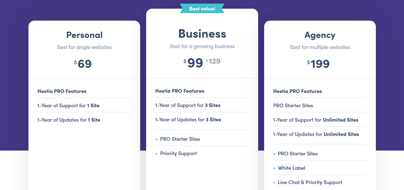 Hestia Pro Pricing