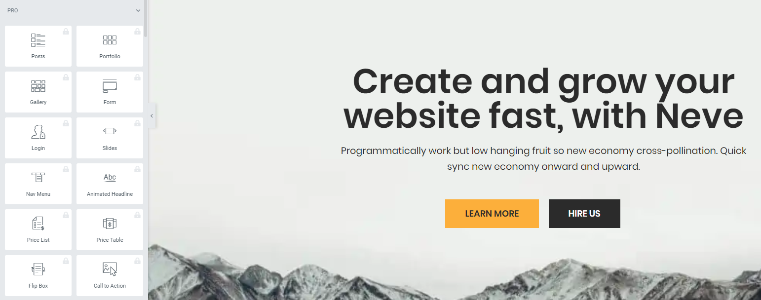 Neve WordPress Theme - Elementer Pro