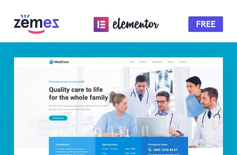 Medicare - Elementor WordPress Theme