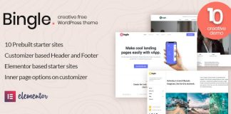 Bingle - Free Elementor WordPress Theme