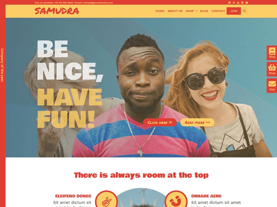 Samundra WordPress Elementor Theme