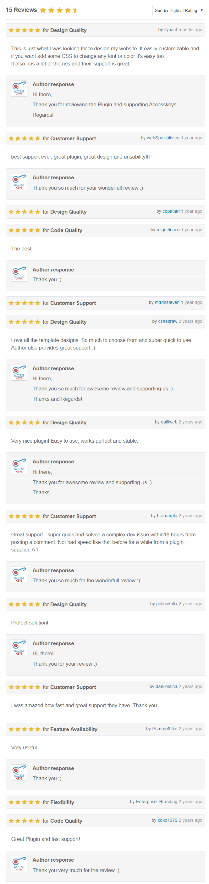 WP Blog Manager - Users Review