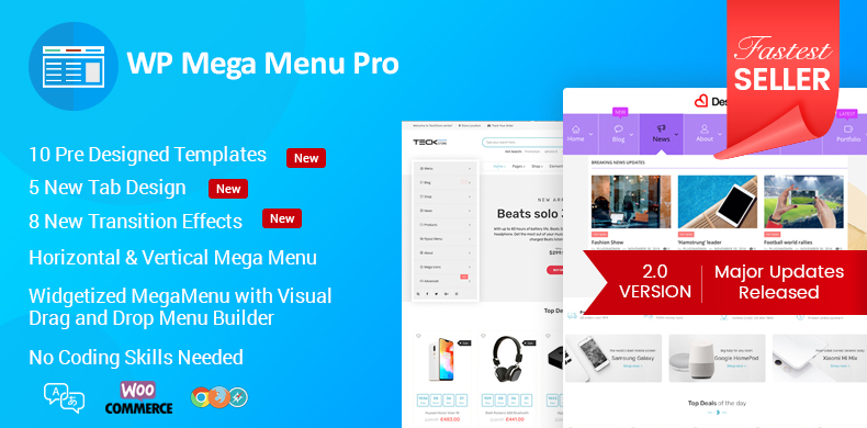 WP Mega Menu Pro - Best Mega Menu Plugin for WordPress