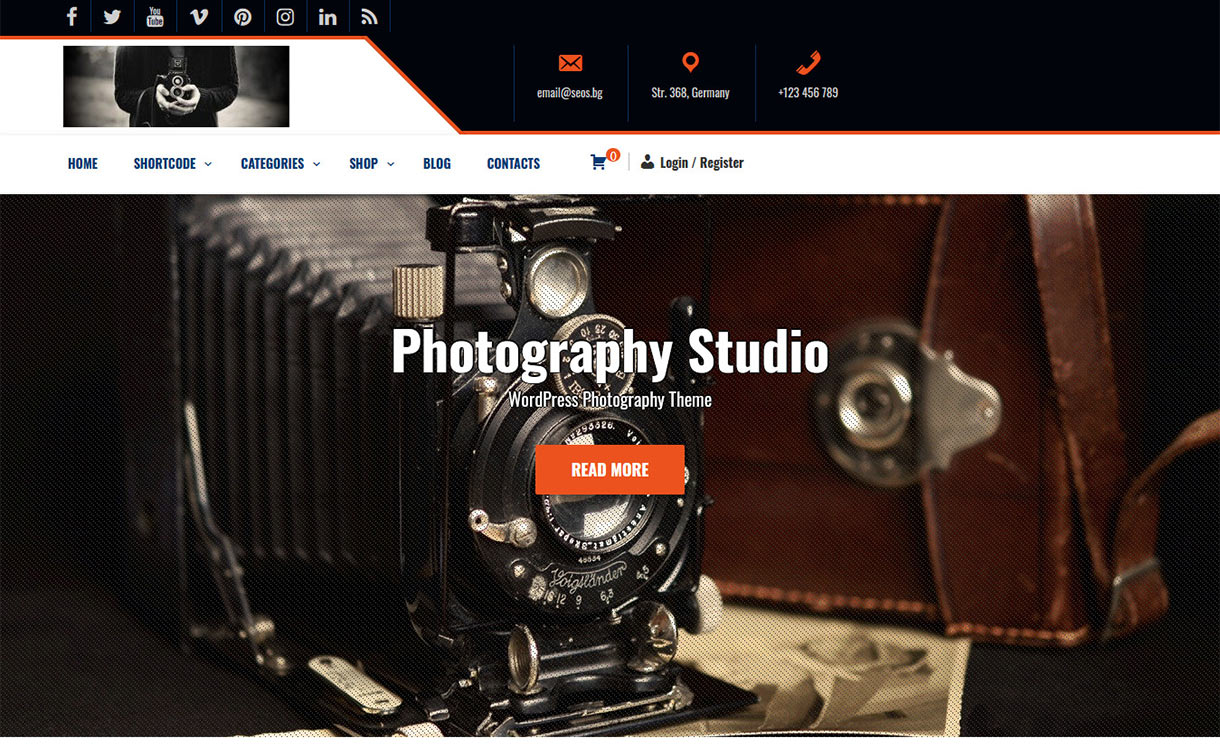 Photography Studio Free WordPress Theme