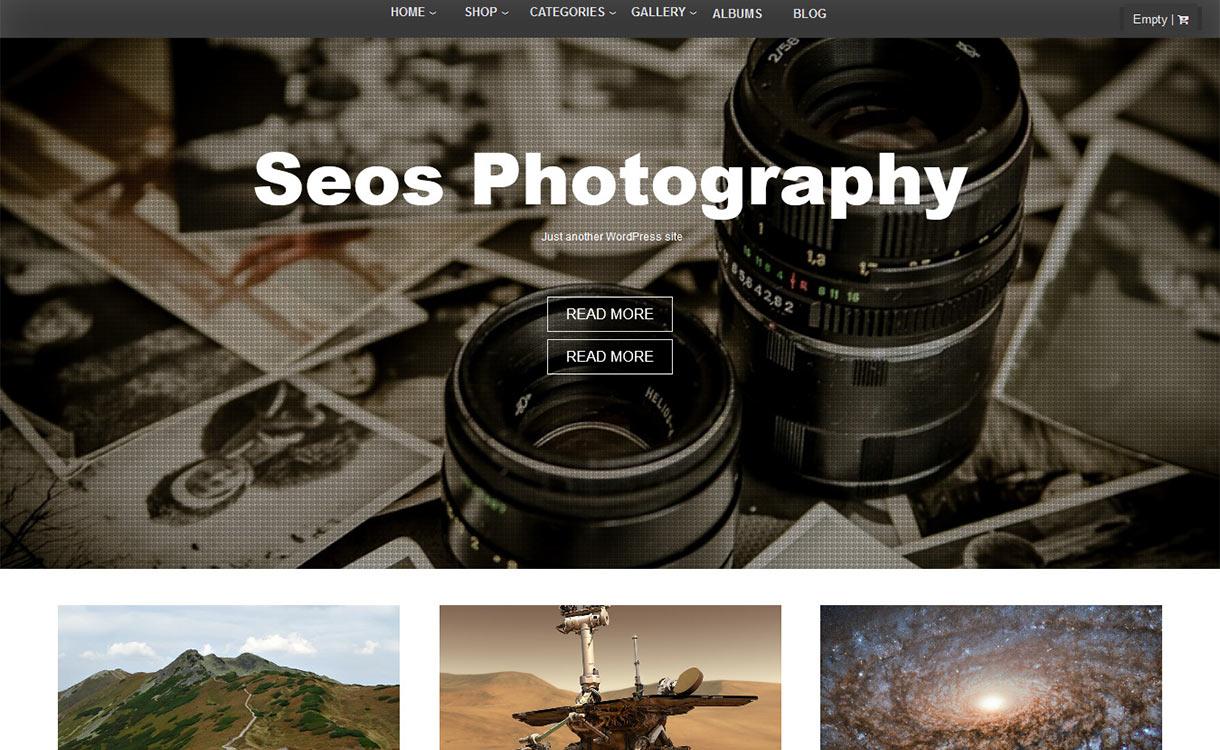 Seos Photography WordPress Theme